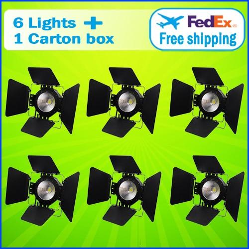 6PCS/CARTON 100W LED COB Par Light LED Auto Show Light Film & TV Light Studio Stage Lighting Effect (Warm White + Pure White) 4 55w color soft lights lamp stage lighting film and television studio