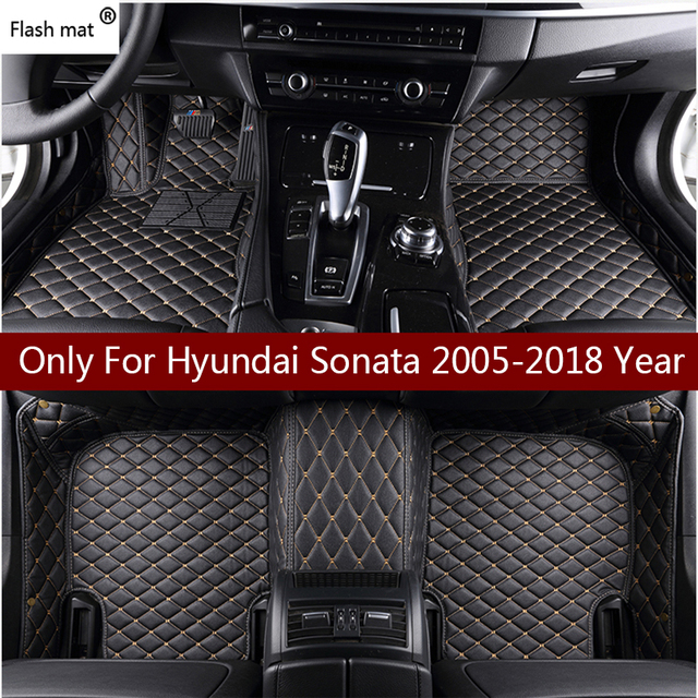 Flash Mat Leather Car Floor Mats For Hyundai Sonata 2006