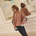 [XITAO] 2017 new arrival spring female loose solid color split long hollow out sleeve pullover fake two piece sweatshirt LC001