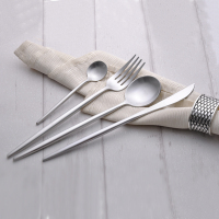 4Pcs Set 18 10 Stainless Steel Flatware Luxury Silver Dinnerware Knife Fork Spoon TeaSpoon Tableware Cutlery