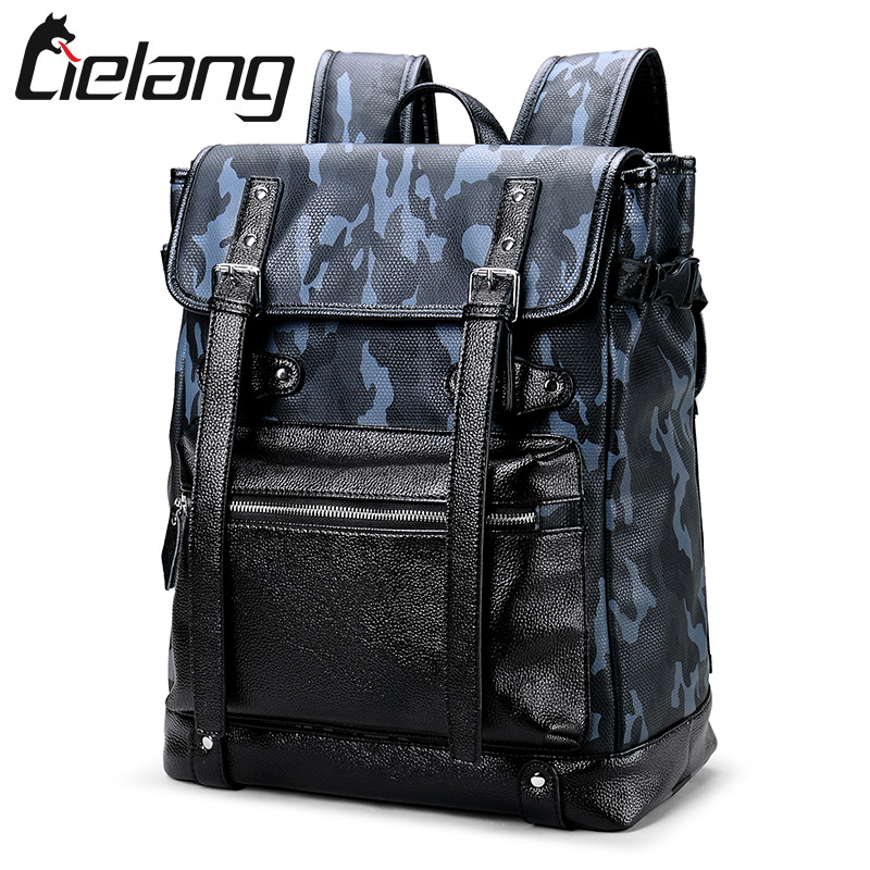 LIELANG Brand Backpack Men Laptop Backpacks Leather High Quality Waterproof Bags for Men Fashion Teenager School Bag Camouflage large men s backpack fashion male 14 inches laptop bag travel bags high quality top leather men waterproof backpacks aw282