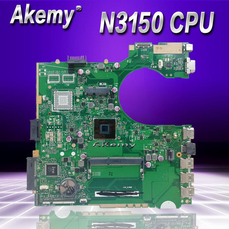 Akemy P452SA MB._N3150 CPU  4 cores P452SA Laptop Motherboard For Asus P452S P452SJ P452SA Mainboard  100% Teste OKAkemy P452SA MB._N3150 CPU  4 cores P452SA Laptop Motherboard For Asus P452S P452SJ P452SA Mainboard  100% Teste OK