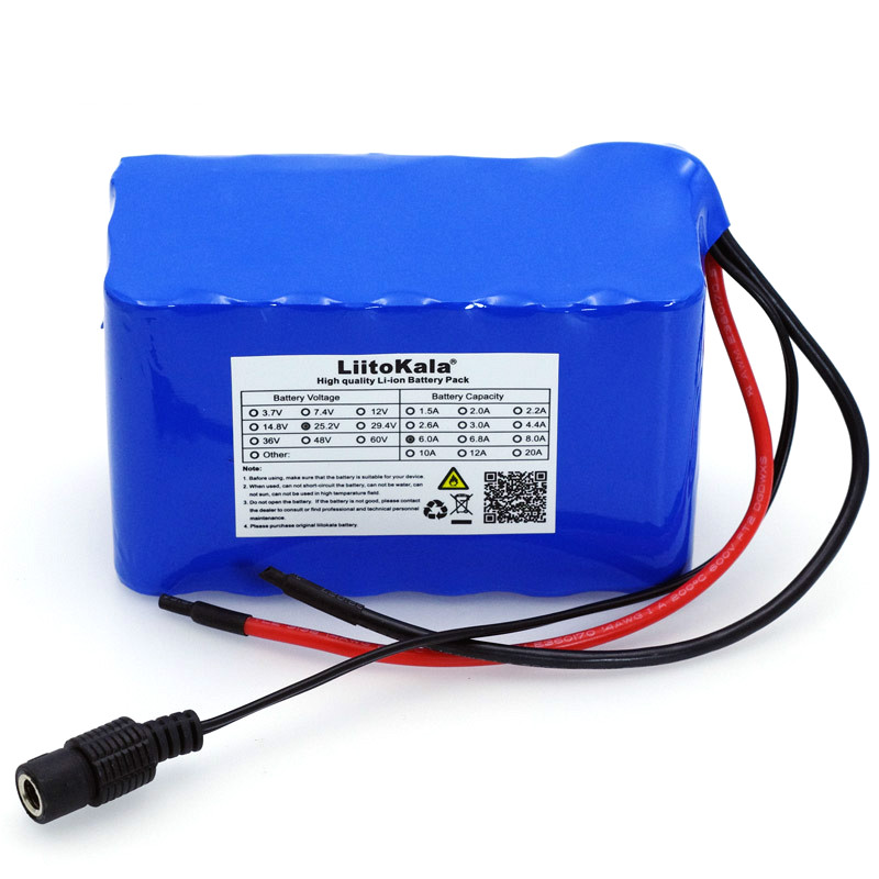 liitokala 6S3P 18650 <font><b>24</b></font> <font><b>V</b></font> 6Ah 6000 mAh <font><b>Battery</b></font> Moped Bicycle Electric / Electric / Lithium Ion <font><b>Battery</b></font> with 25.2v BMS Protection image