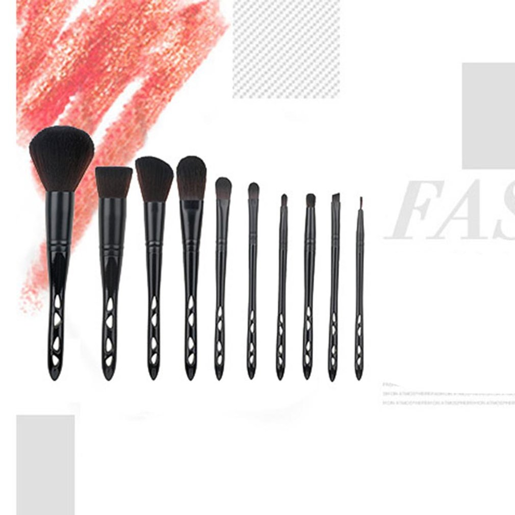 0Pcs set Plastic Handle Nylon Hair Cosmetic Brush Makeup Brushes Powder Foundation Brush Makeup Tools in Eye Shadow Applicator from Beauty Health