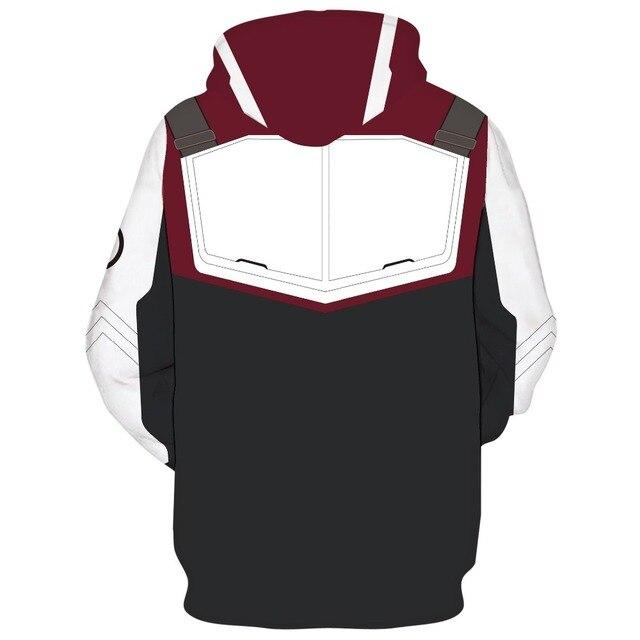 Marvel The Avengers 4 Endgame Quantum Realm Cosplay Costume Hoodies Men Hooded Avengers Zipper End Game Sweatshirt Jacket 5