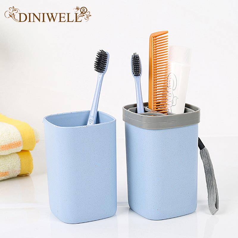 Travel Plastic Toothbrush Toothpaste Holder Box Shampoo Shower Gel Container Cup for Travel Organizer