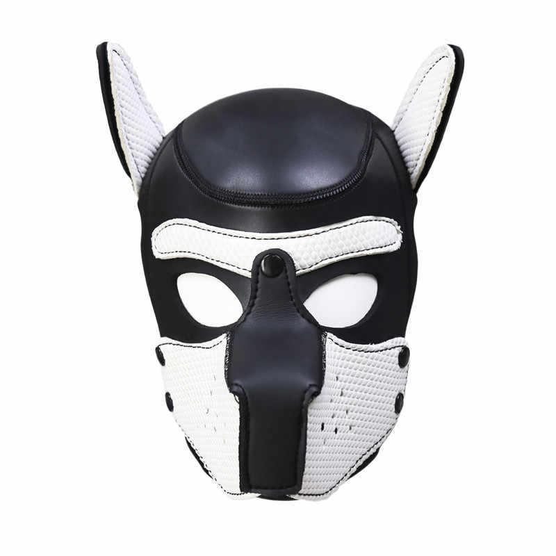 Новые сексуальные девушки женщины косплей реквизит маска щенка ролевые игры секс леди резиновый шлем мягкий латекс маска собаки 4 цвета