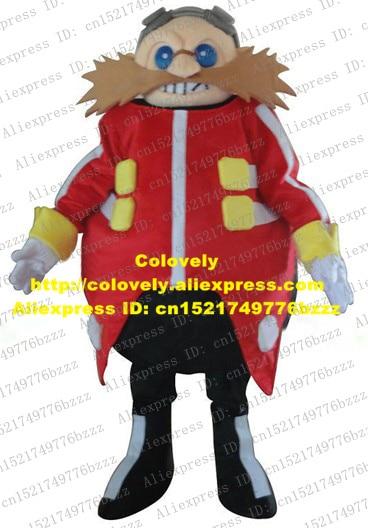 Gentle Pink Dr Eggman Sonic The Hedgehog Mascot Costume Cartoon