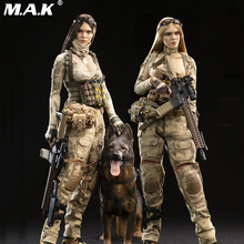 цена на 1/6 Full Set A-TACS FG Women Soldier Jenner & German Shepherd Dog Set VCF-2037 ABC Ation Figure Model TOYS Gift