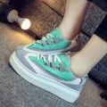 No Outono De 2016 Sapatos De Grife Coreano Estudantes Do Sexo Feminino Sapatos Casuais Sapatos de Sola Grossa Aumentou Ms. Maré Sapato Branco