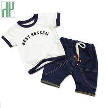 1 2 3 4 Year kids clothes boys summer New Cotton Casual Kids Outfits Letter 2pcs Baby Children Clothing Set costume for girls