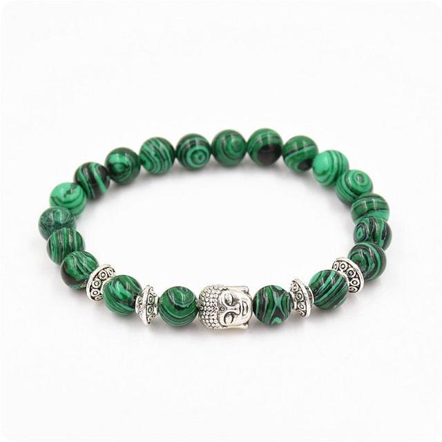 Bracelet Malachite Argent