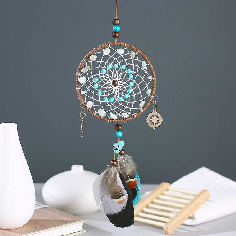 New Handmade Dream Catchers Hanging Dreamcatcher Wind Chimes Indiana Feather Pendant Creative Car/Home Decoration Hanging Decor