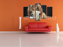 2017 New Time-limited Pop Star Modern Canvas Modular Painting Wall Art The Picture Irregular Frameless Household Products