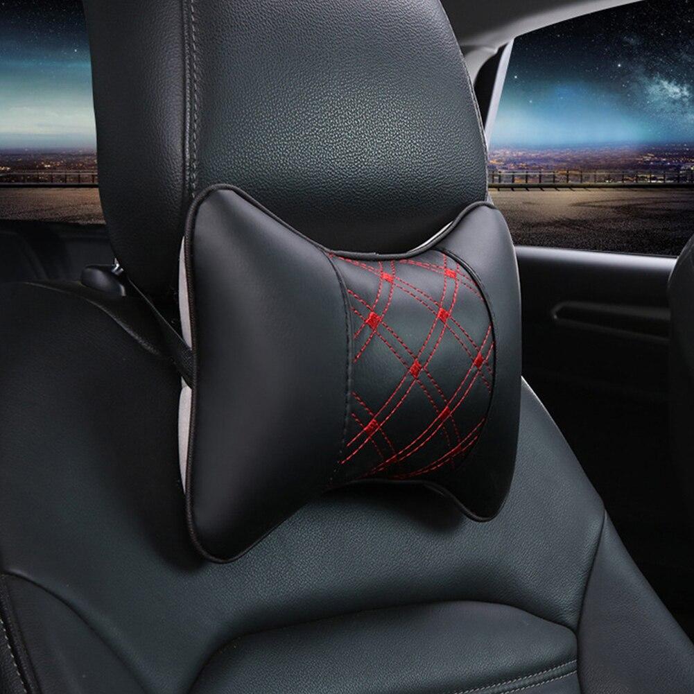 Четыре сезона общего Авто Ван в форме кости шеи Подушка держатель - Название цвета: black