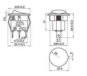 Image 4 - BỘ 5 12V 220V LED illuminuted đính đá công tắc 20A 12V nút ấn công tắc Xe nút đèn/TẮT Vòng đèn