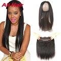Peruvian Virgin Hair With 360 Closure 8A 360 Lace Frontal Closure With Bundles Peruvian 360 Frontal With Bundles Straight Hair