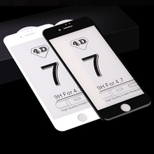 4D Curved Tempered Glass Full Cover Screen Protector For Apple iPhone 7 7plus 6 6S 6Plus 8 Plus For iphone X 4D Tempered Glass