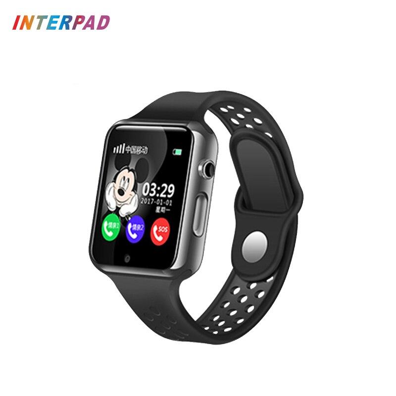 Interpad Smart Baby Watch With Camera Pedometer Waterproof Wristwatch Support SIM /TF Dial Call Smart Watch For Kids Boy Girl цены онлайн