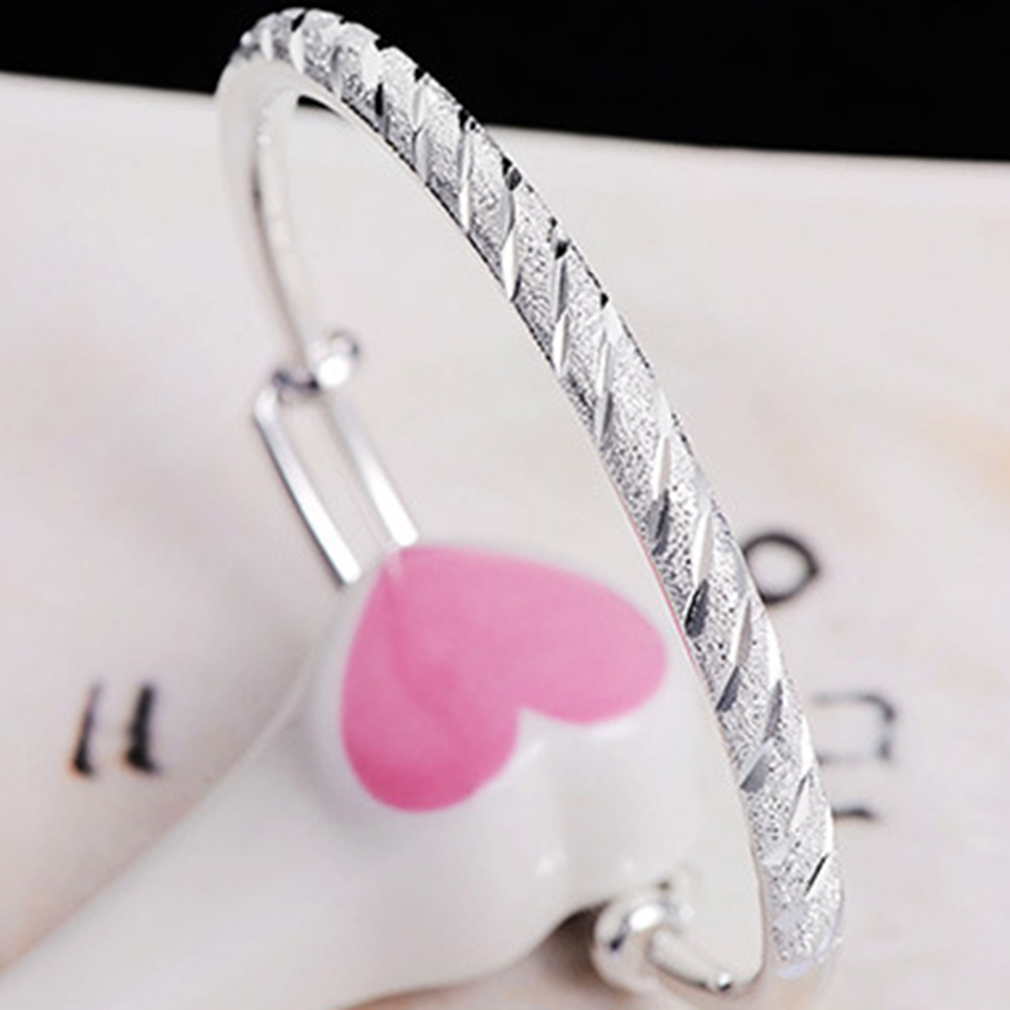 Silver Color Fashion Bangles Bracelet Simple Designed Luxury Meteor Shower Can Be Adjusted For Women Jewelry DIY Jewelry