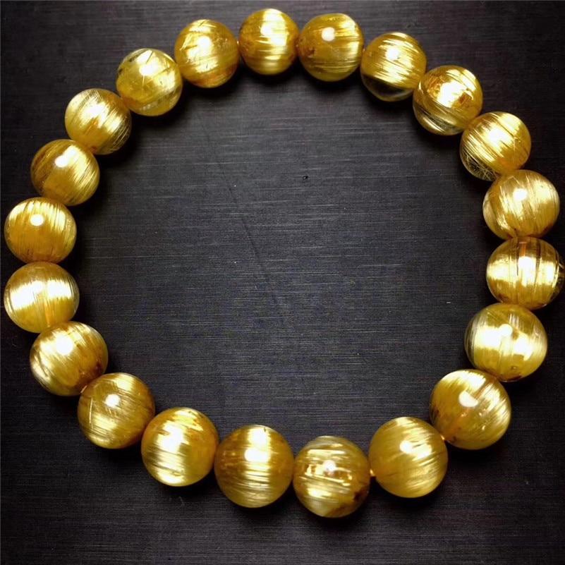 Natural Rutilated Titanium Quartz Bracelet (3)