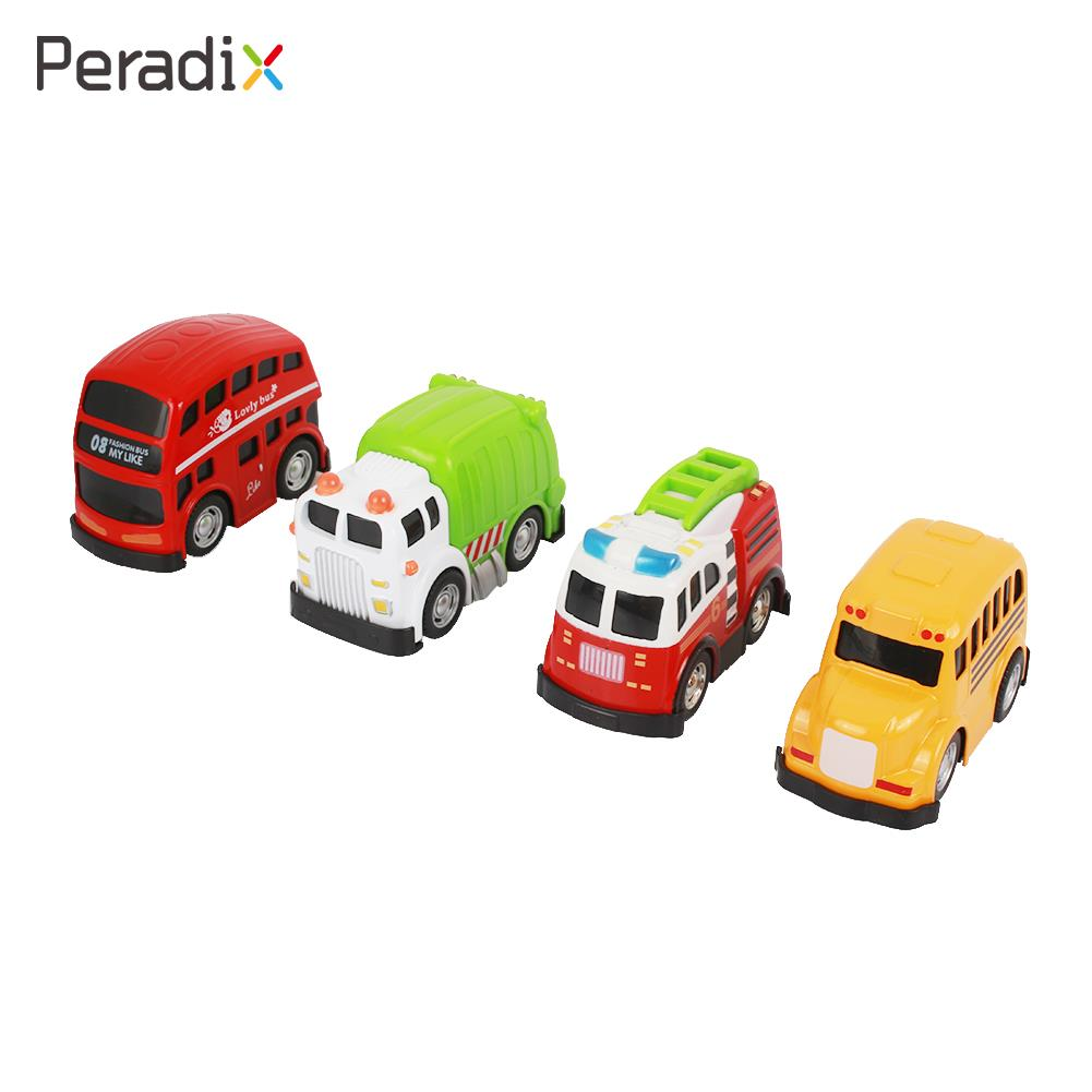 Kids Alloy Toy Car Children Alloy Toy Car Vehicle Bus Cute 4 Pcs/Set Alloy Pull Back Gifts Alloy Toy Car