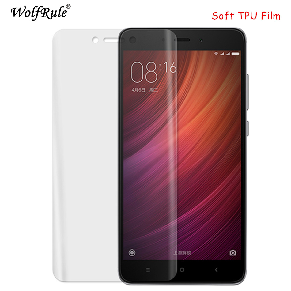 2pcs Full Cover Screen Protector Film Xiaomi Redmi 4X Soft TPU Film For Xiaomi Redmi 4X Anti Burst Soft Phone Film Redmi 4x [