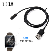 USB Magnetic Faster Charging Cable Charger For ASUS ZenWatch 2 WI501Q Smart Watch USB Charger With Screen Protector for Zenwatch