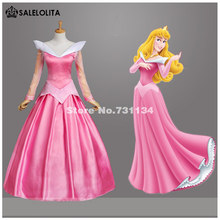 Adult Pink Sleeping Beauty Costume Aurora Princess Cosplay Dress With Cloak Halloween Party Stage Performance Costumes(China)