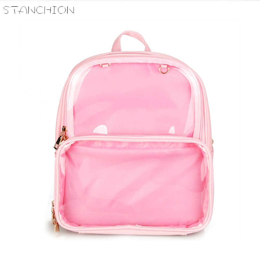 Luggage & Bags Knowledgeable Stanchion Cute Clear Transparent For School Women Backpacks Pvc Jelly Teenage Girls Bags Color Student Schoolbags Bookbag