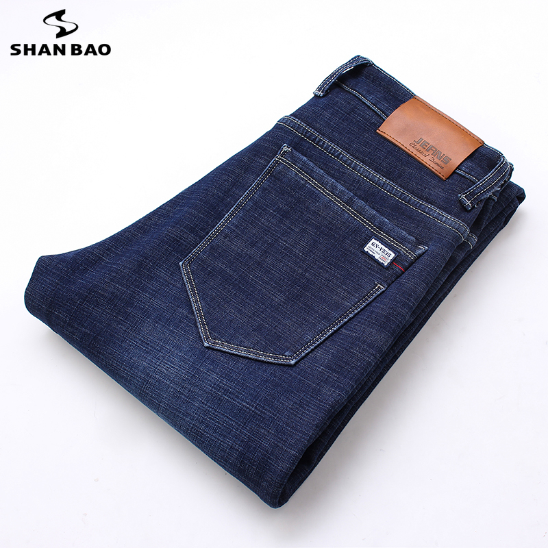 Men's brand   jeans   2019 autumn and winter new high quality cotton Slim stretch denim   jeans   young fashion casual men's trousers
