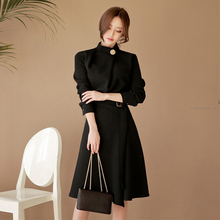 Belted Dress Women 2018 Autumn  Elegant Vantage Long-Sleeve