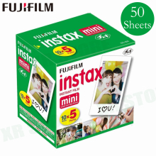 Original Fuji Fujifilm Instax Mini 11 9 8 Film White Edge Photo Papers For Mini 7s 90 25 55 Share SP 1 Instant Camera 50 sheets