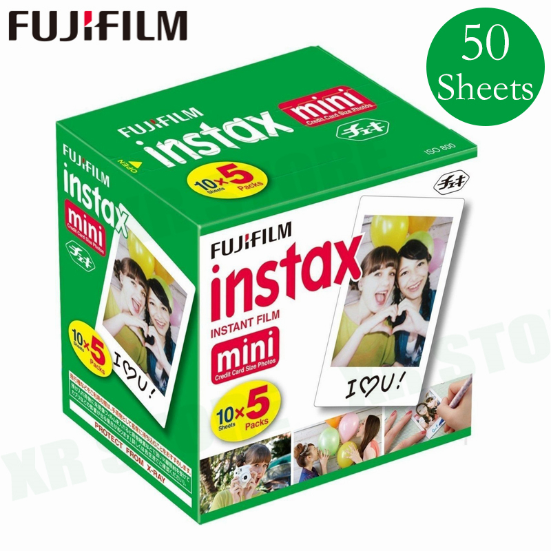 цена на Original Fuji Fujifilm Instax Mini 8 Film White Edge Photo Papers For Mini 9 7s 90 25 55 Share SP-1 Instant Camera 50 sheets