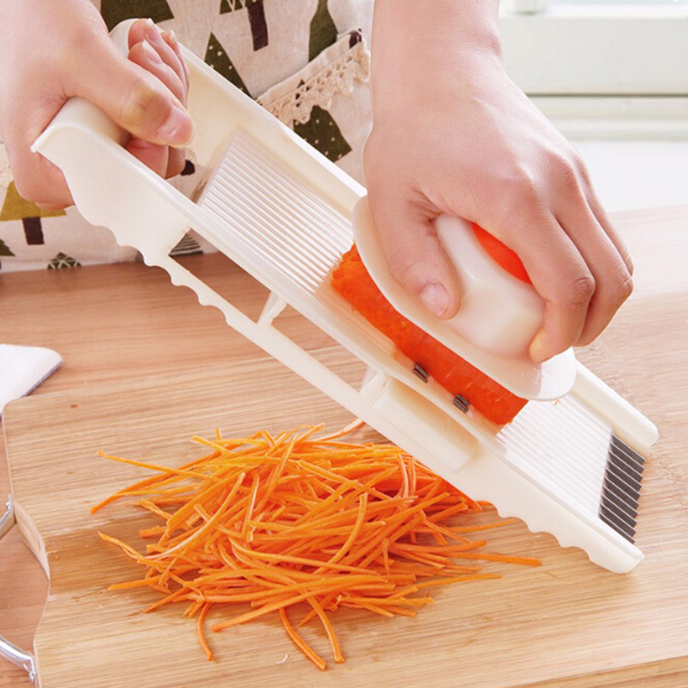 7-in-1 Multifunctional Mandoline Slicer and Vegetable Grater Made with Stainless Steel and PP Material