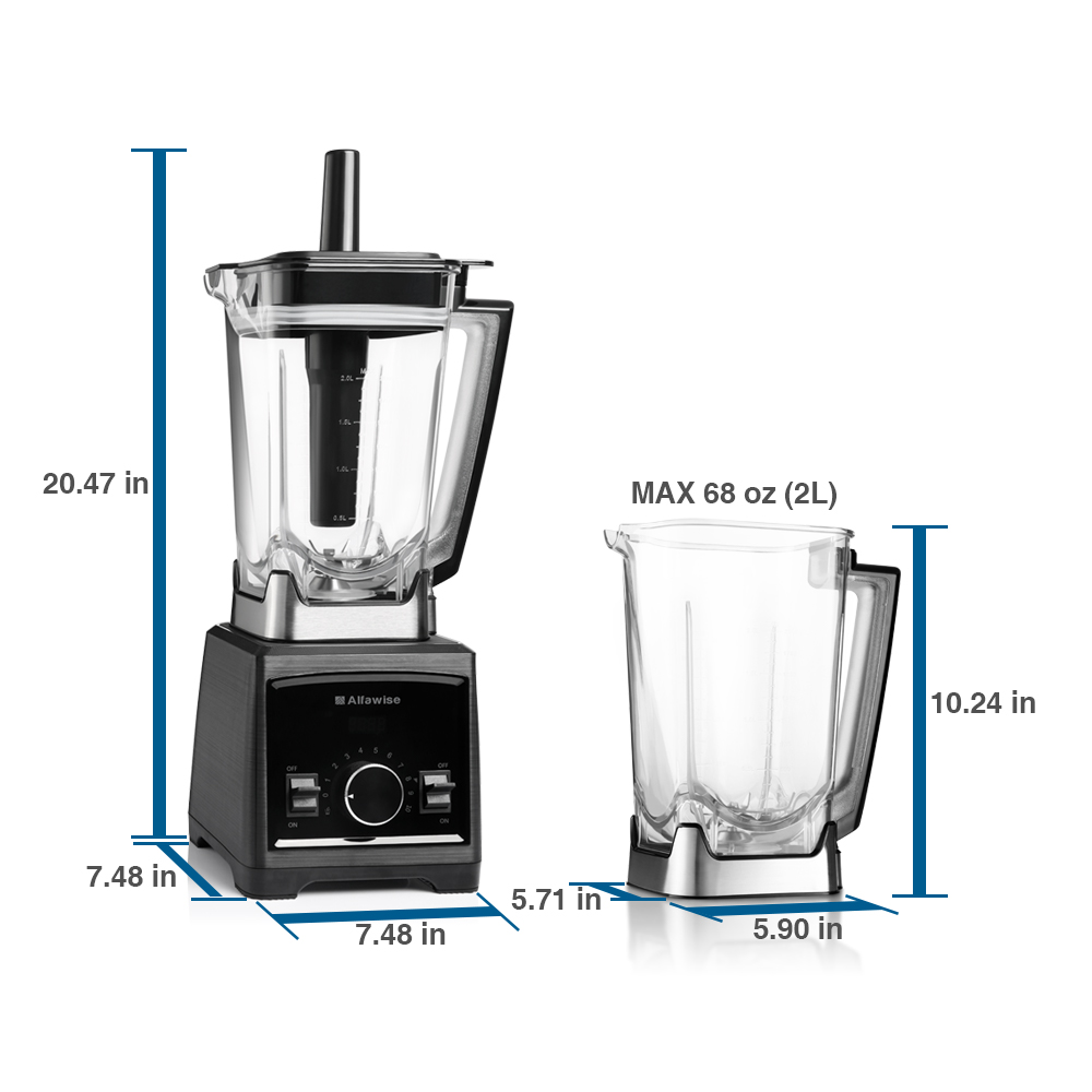 Professional Electric 1450W High-Speed Kitchen Blender 70oz Mixer Juicer Machine