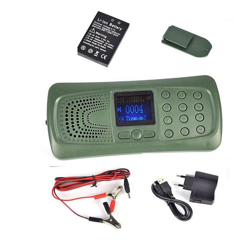 Outdoor Bird Caller Hunting Decoy Bird Sound Caller MP3 Speaker Player with Built in 110 sounds