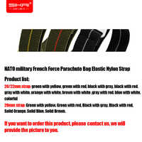 Military Nato Nylon Watch Strap French Force Parachute Bag Elastic Nylon Watch Band 20 21 22mm Belt For Rolex Submariner Watch