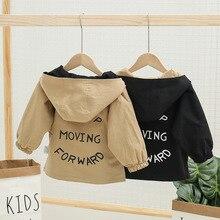 Heißer Verkauf Baby Mantel 2020 Neue Hoodied Mode Mantel Für Kid Boy Print Striped Plaid Frühling Outwear Jacken Reversible Mantel
