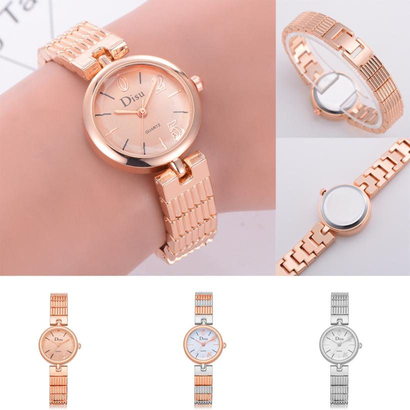 Rose Gold Plated Women's Elegant Rhinestone Bracelet Quartz Watch Fashion Ladies Dress Watches women's watches analogic Top 18mm genuine leather watchband tool for huawei watch women s smartwatch band wrist strap plain grain belt bracelet black brown