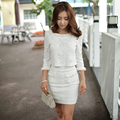 Dabuwawa high waist lace pencil skirt