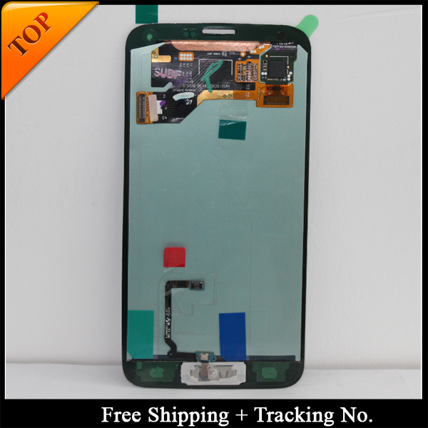 100 tested Super AMOLED LCD For Samsung S5 LCD G900F LCD For S5 G900 G900F G900H