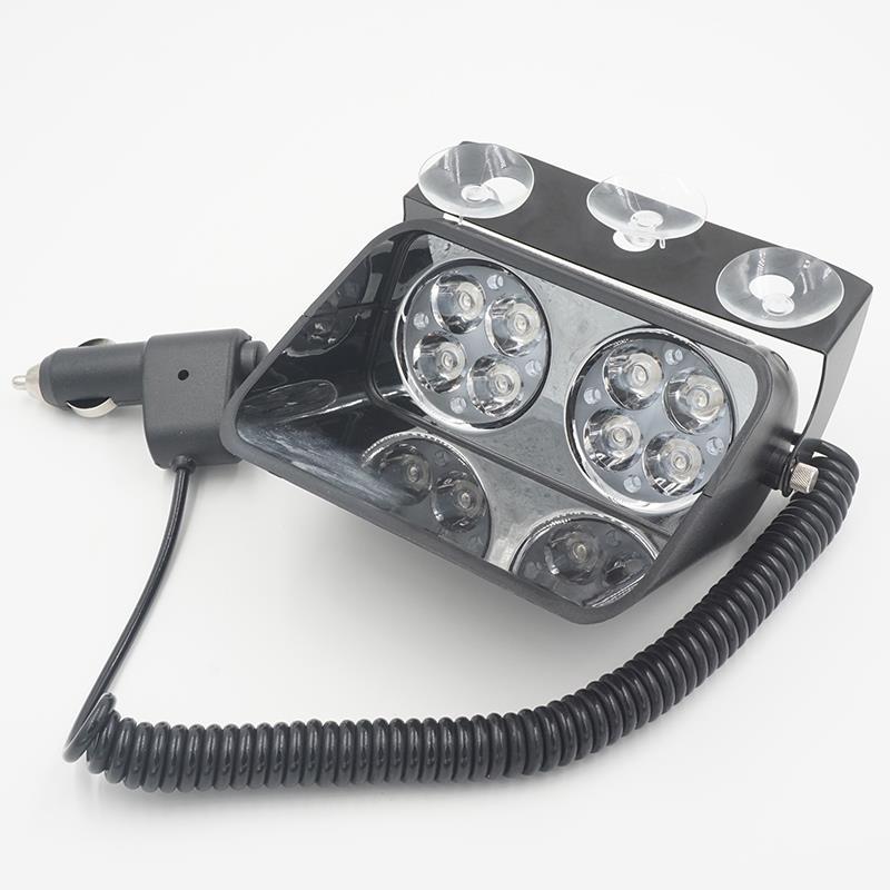 8 LED Strobe Flash Warning EMS Police Car Light Flashing Firemen Fog 8LED High Power Red Blue Amber White 12V 24V 24W S8
