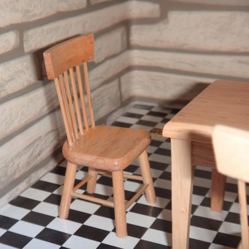 Dining table and chair set doll house 12