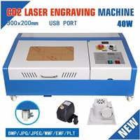 110V Laser machine Engraver Cutting Machine 40W CO2 including shipping fee and tax to USA