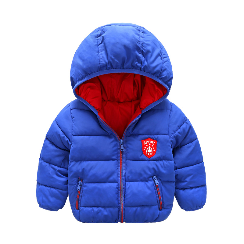80-120cm Children Boys Girls Winter Coat Hooded Warm Kids Winter Jacket Candy Color Baby Outerwear Coats children winter coats jacket baby boys warm outerwear thickening outdoors kids snow proof coat parkas cotton padded clothes