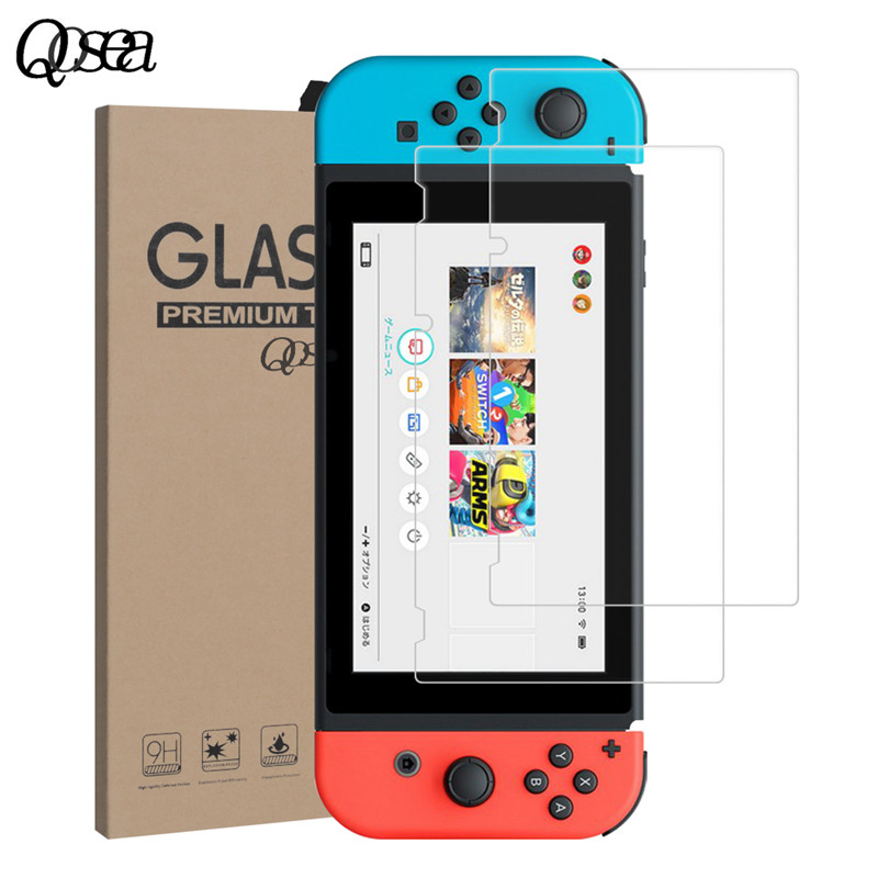 Qosea Tempered Glass For Nintendo Switch 9H Ultra-thin Clear Protective Film Explosion-proof Screen Protector Nintend Switch