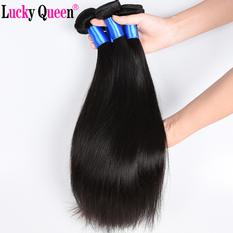 Lucky Queen Hair Products Brasilian Straight Human Hair Weaves 1 - Mänskligt hår (svart) - Foto 5