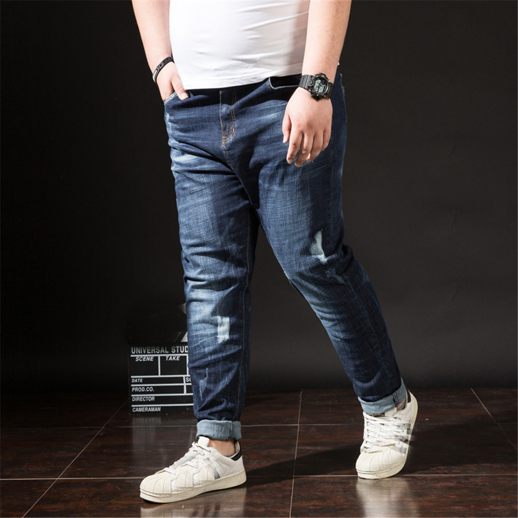 2019 NEW Men's summer retro high quality jeans casual long skateboard straight fashion denim large size S-6XL 7.12