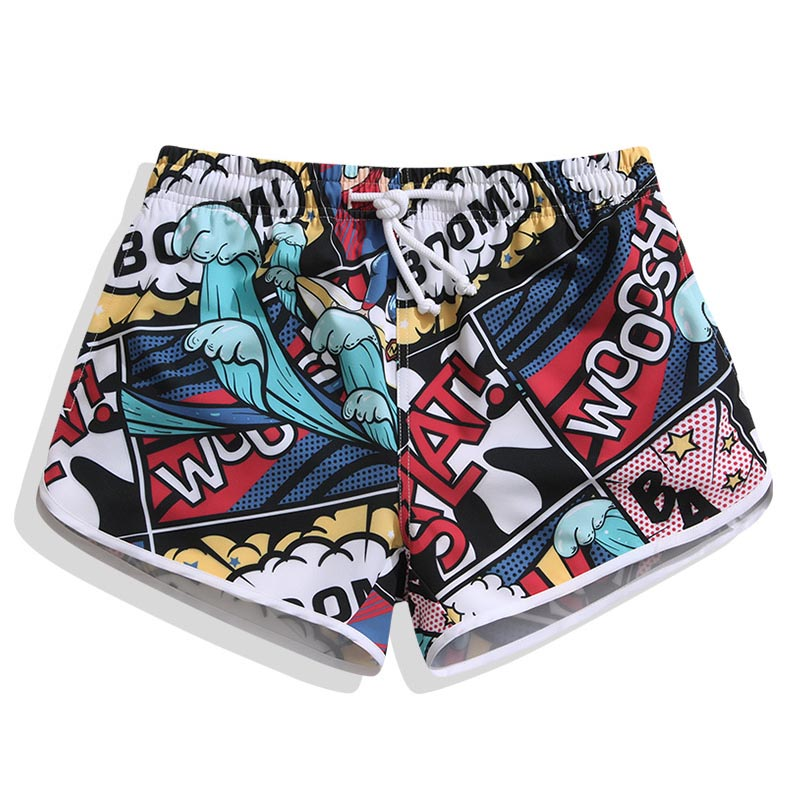 Men Beach Shorts Surfaster 2019 Quick dry Print Loose Couples Shorts Beach Pants Men Large Size Beach Swimming Surf Shorts Men in Surfing Beach Shorts from Sports Entertainment